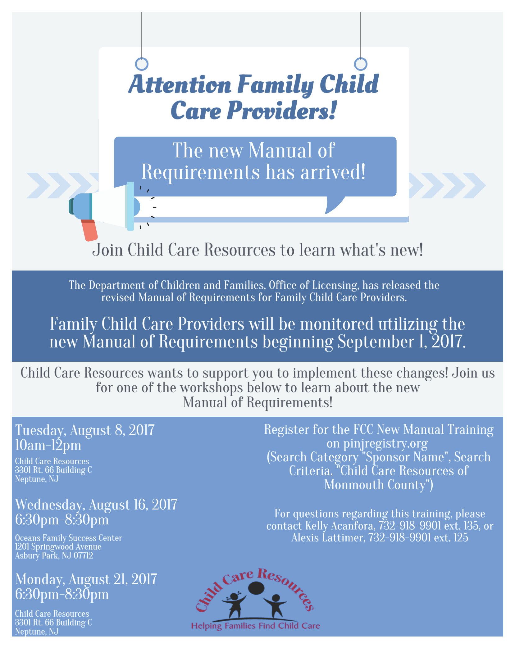 new requirements child care resources rh ccrnj org manual of requirements nj chapter122 manual of requirements for child care centers nj 2017