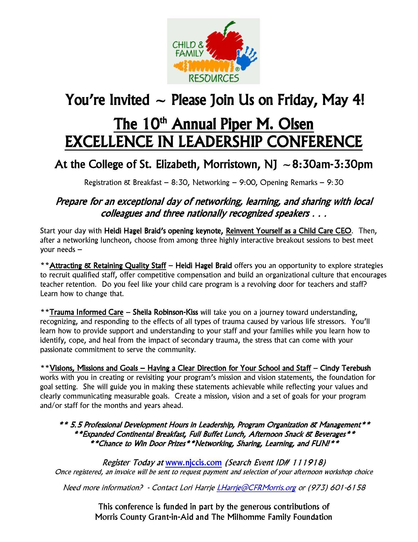 flyer 2018 directors conference child care resources