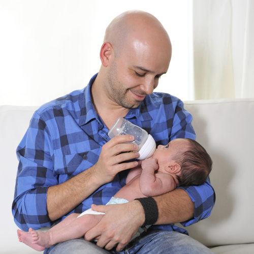 Father Feeding Newborn-square